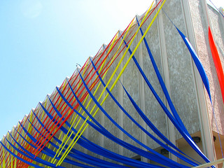 red blue yellow installation | by jessica wilson {jek in the box}
