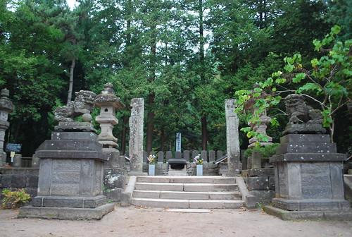 会津飯森山: 白虎隊士墓所