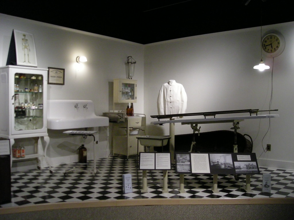 1920s embalming preparation room former Museum of Funeral Flickr