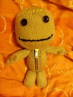 sackboy in orange glow | by joysaphine