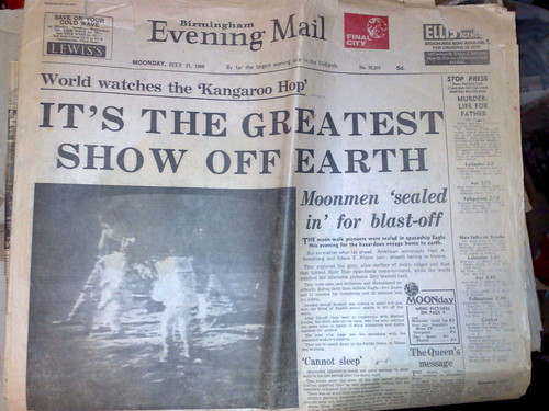 Birmingham Evening Mail, Moonday July 21st 1969