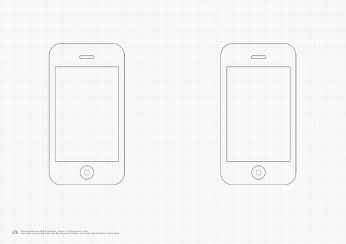 iPhone Application Sketch Template v1.3 | Here's the ...