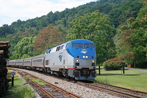 Amtrak on Afton Mountain | by jpmueller99
