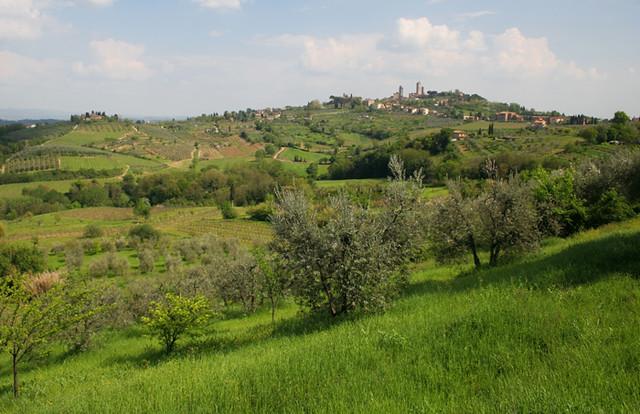 San Gimignano desde afuera