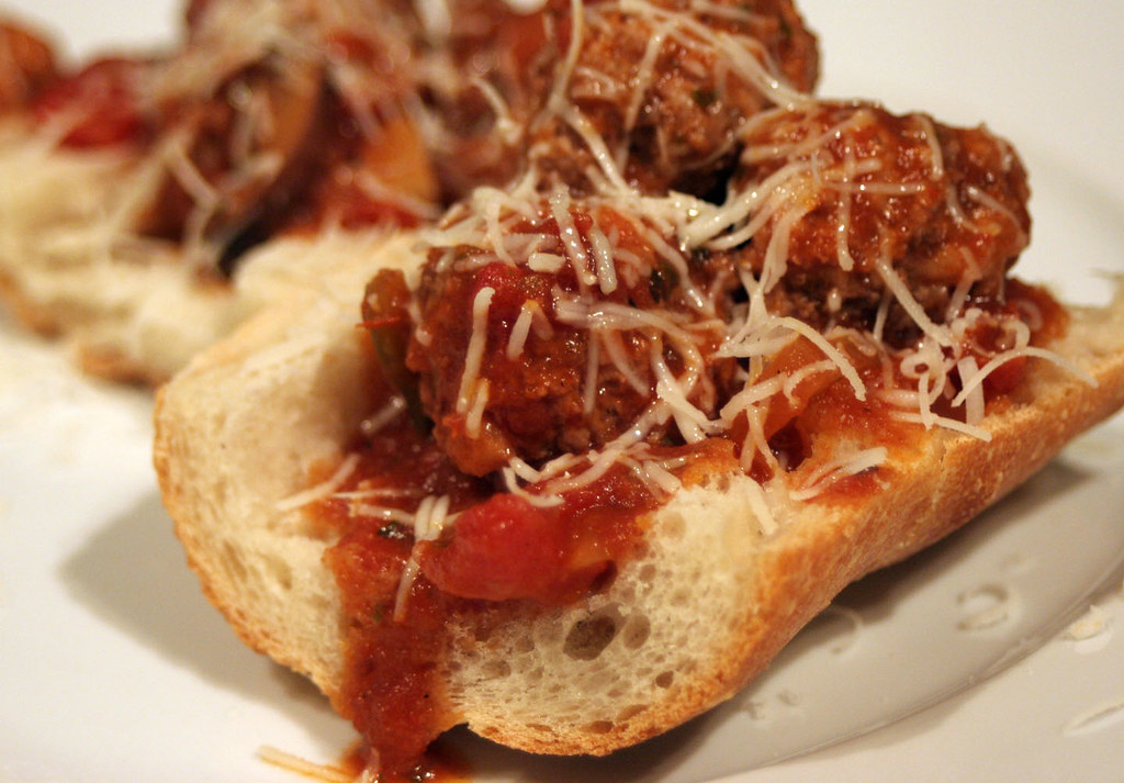 Turkey Meatball Sub Open Faced Turkey Meatball Subs Light Flickr