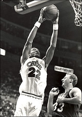 Larry Nance Dunks on Larry Bird 1992 | by Cavs History