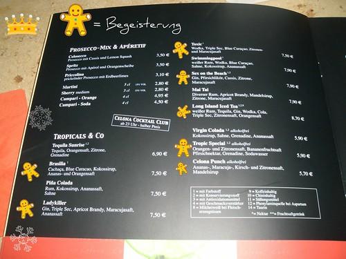 Cafe Bar Celona G Ef Bf Bdtersloh Speisekarte