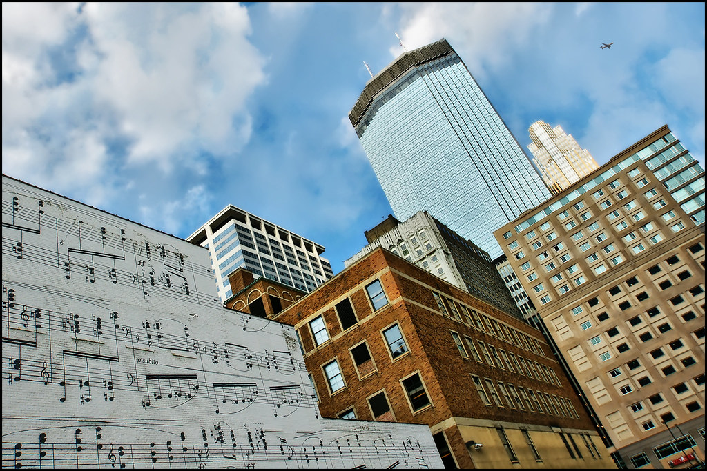 downtown minneapolis music wall | Downtown Minneapolis view … | Flickr