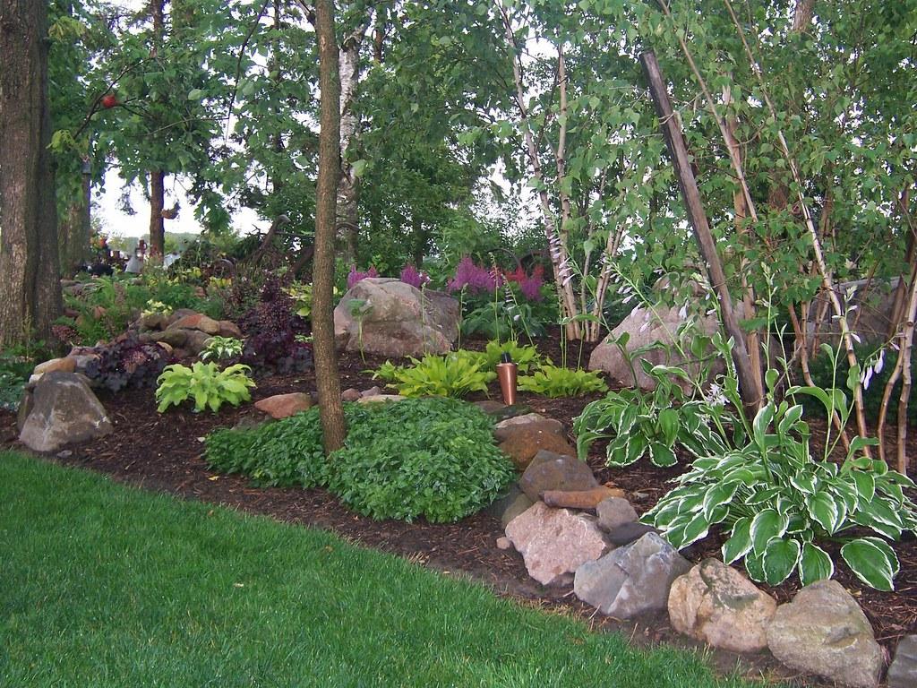 Exceptionnel ... Landscaping 100_1689 Shade Garden, Landscape Design,Hosta,Astble,  Heuchera, Gardens, Landscaping