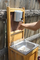 Outdoor sink in ger district, Ulaanbaatar, Mongolia | by East Asia & Pacific on the rise - Blog