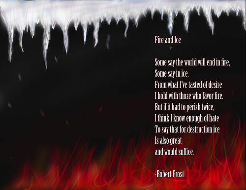 fire and ice robert frost typical depiction shrug flickr