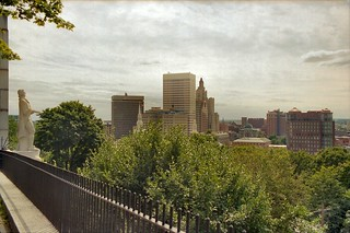 B_12A College Hill - Roger Williams Statue (1939) and Downtown Providence from Prospect Terrace (1867) - 75 Congdon Street - Looking South-West | by CthulhuWho1 (Will Hart)