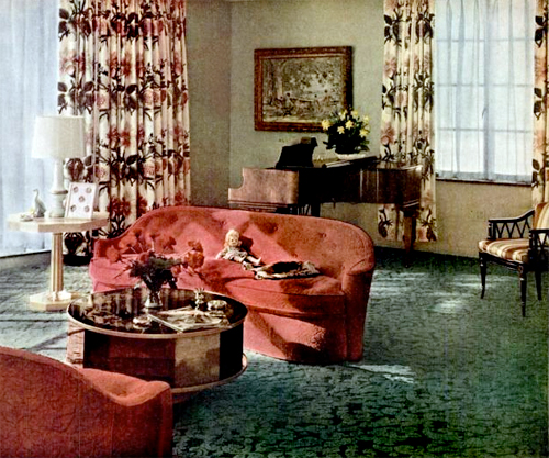 Lovely ... Living Room (1948) | By Peppermint Kiss Kiss
