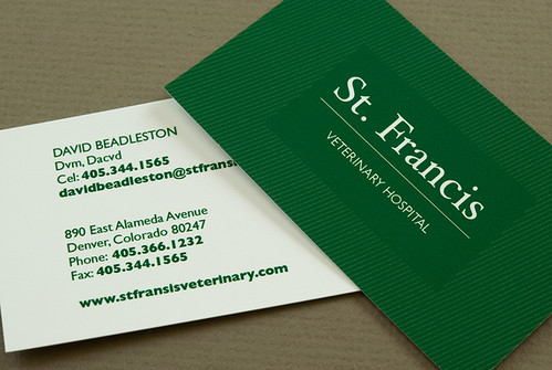 Green Veterinary Business Card Green Veterinary Business C Flickr