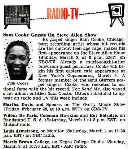 Supremes We Remember Sam Cooke