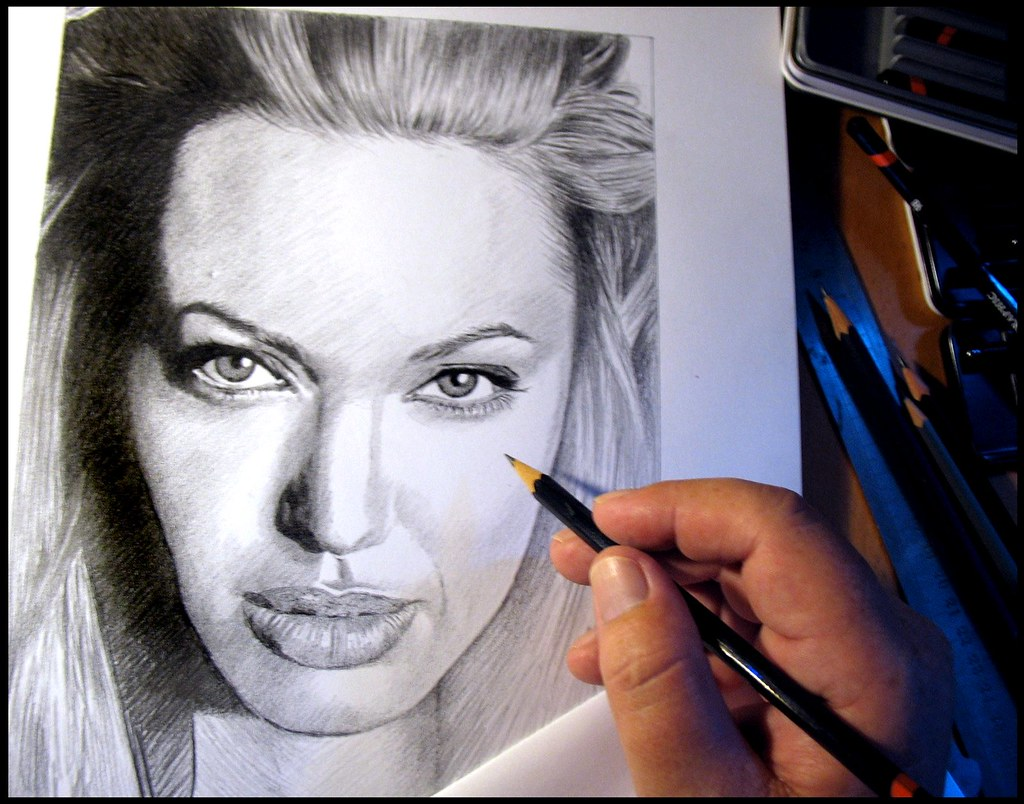 Angelina jolie 04 work in progress by pbradyart