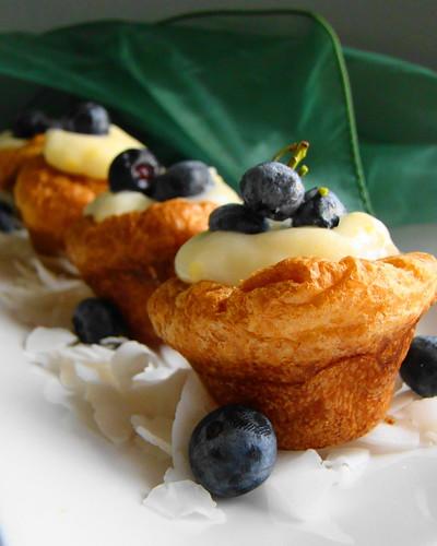 Blueberry Coconut Kreme Popovers   Recipe for the coconut kr ...