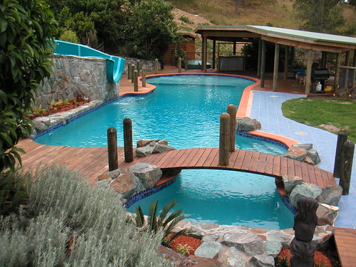 Designer Custom Concrete Pool Free Form Designer