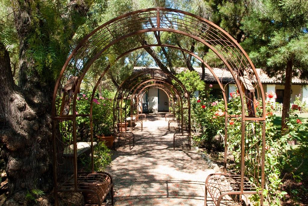 ... Mission San Juan Bautista Garden | By HarshLight