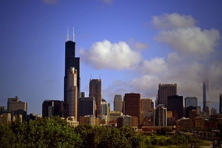 Chicago skyline from the orange line train | by Salil Wadhavkar