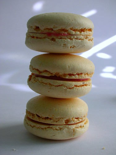 Strawberry & vanilla macarons | by toriejayne