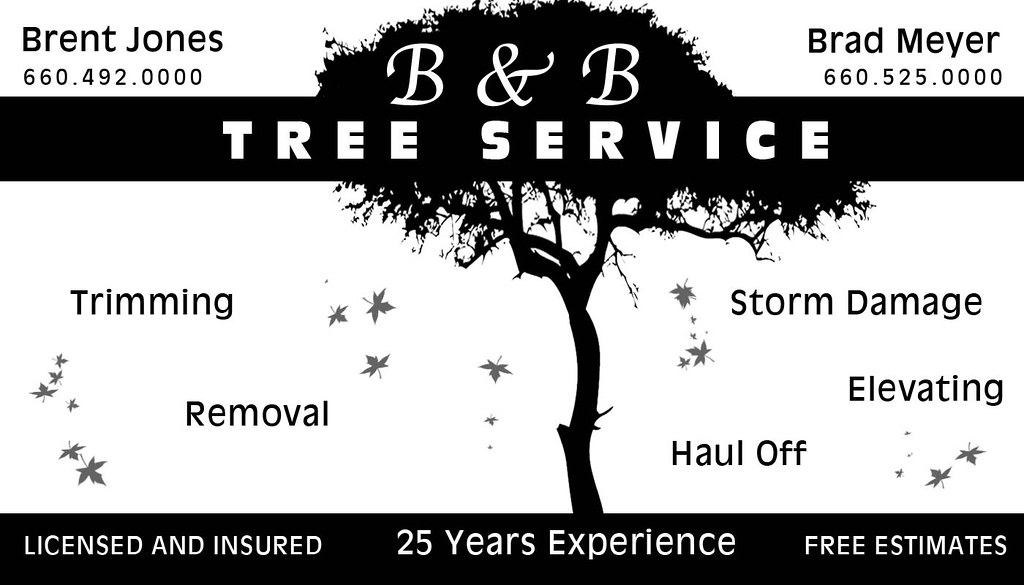 Tree Service Business Card | Work project.. business card.. … | Flickr