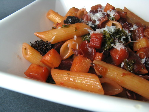 Penne with Skillet-Roasted Root Vegetables | by katbaro