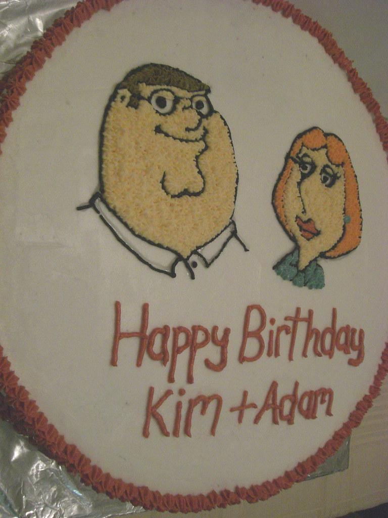 Phenomenal Family Guy Birthday Cake Jackie Seigle Flickr Funny Birthday Cards Online Alyptdamsfinfo