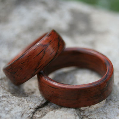 wood wooden engagement friendly rings topaz rosewood ring wedding blue affordable eco