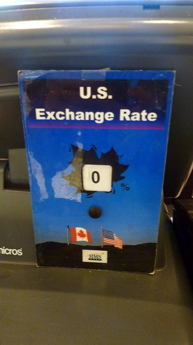0 percent US exchange rate, cafe, Terminal 3, Pearson Airport, Toronto, ON, Canada | by gruntzooki