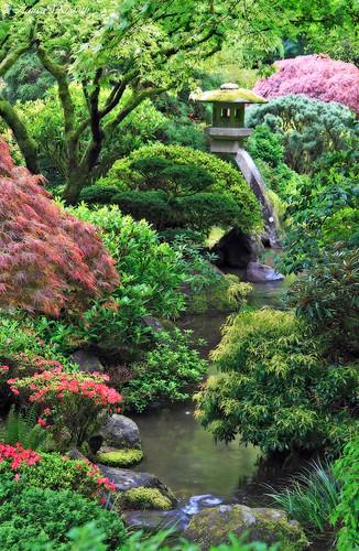 Spring statue portland japanese garden oregon canon 50d - Portland japanese garden free day ...