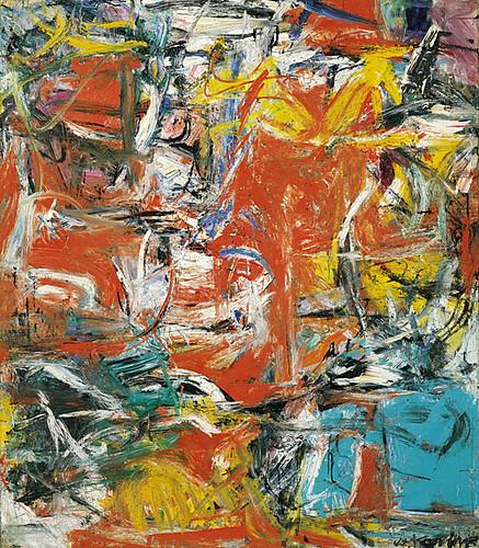 Black Flower 21st Century Op Art Set: De Kooning, Willem (1904-1997) - 1955 Composition
