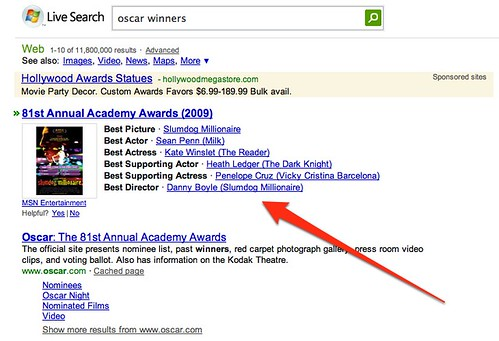 oscar winners - Live Search | by search-engine-land