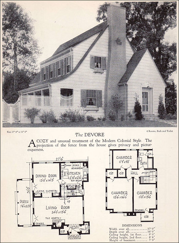 1928 modern colonial house plan source home builders for Modern colonial house plans