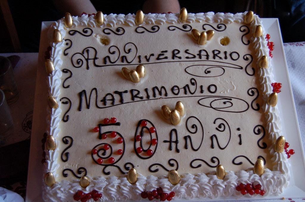 Torta Per I 50 Anni Di Matrimonio Dei Miei Genitori Flickr
