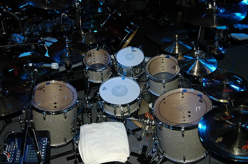 Mike Mangini's Drum Kit featured at DrummerFest | by InterstateMusic