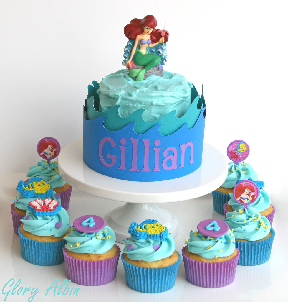 Little Mermaid Birthday Cakes Cupcakes And Mini Cake For A Flickr