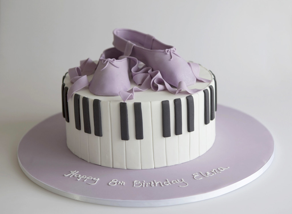 Piano And Ballet Birthday Cake The Brief Was Ballet Pian Flickr