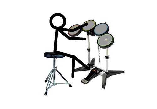 stick figure playing rock band drums i created this. Black Bedroom Furniture Sets. Home Design Ideas