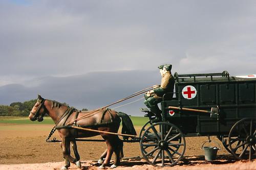 German horse drawn ambulance | 1:35th scale model of a ...
