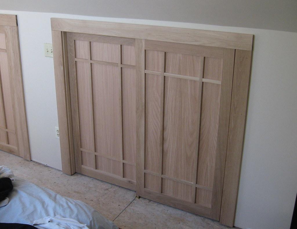 209 Craftsman Closet Doors Craftsman Style Oak Bypass Clo Flickr