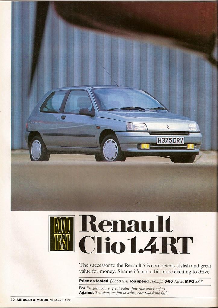 renault clio 1 4 rt road test 1991 flickr. Black Bedroom Furniture Sets. Home Design Ideas
