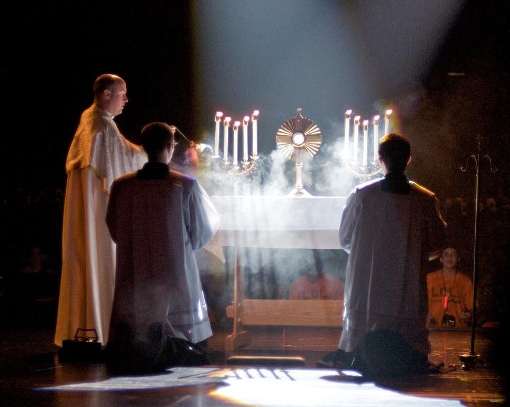 Image result for eucharist light adoration