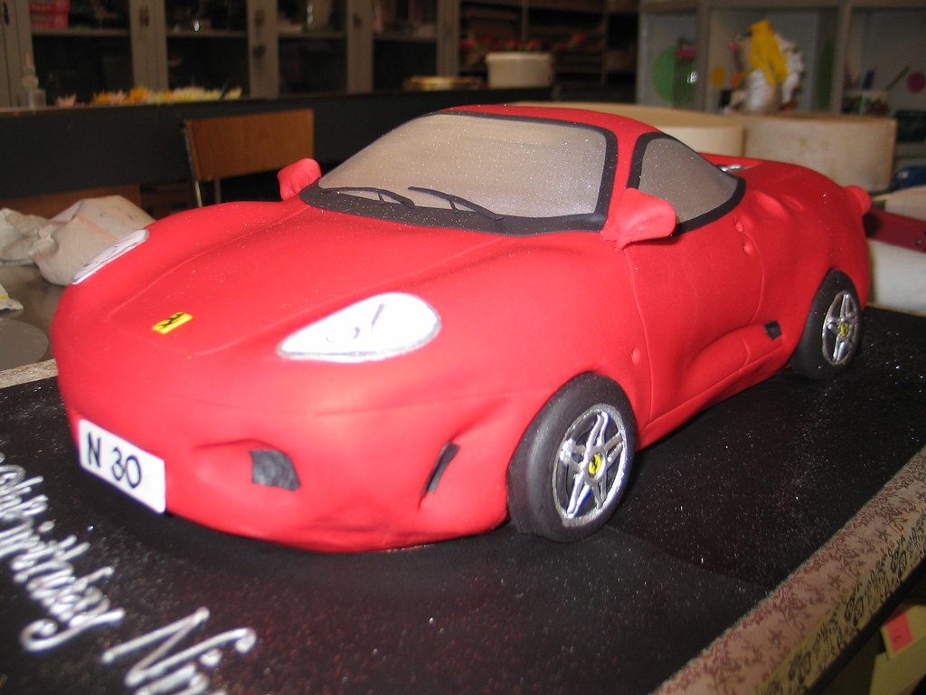 3D Ferrari car shaped birthday cake Charlys Bakery Flickr