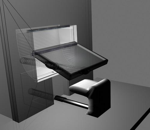 Attrayant Retractable Work Desk   By Manuel_rueda Retractable Work Desk   By  Manuel_rueda