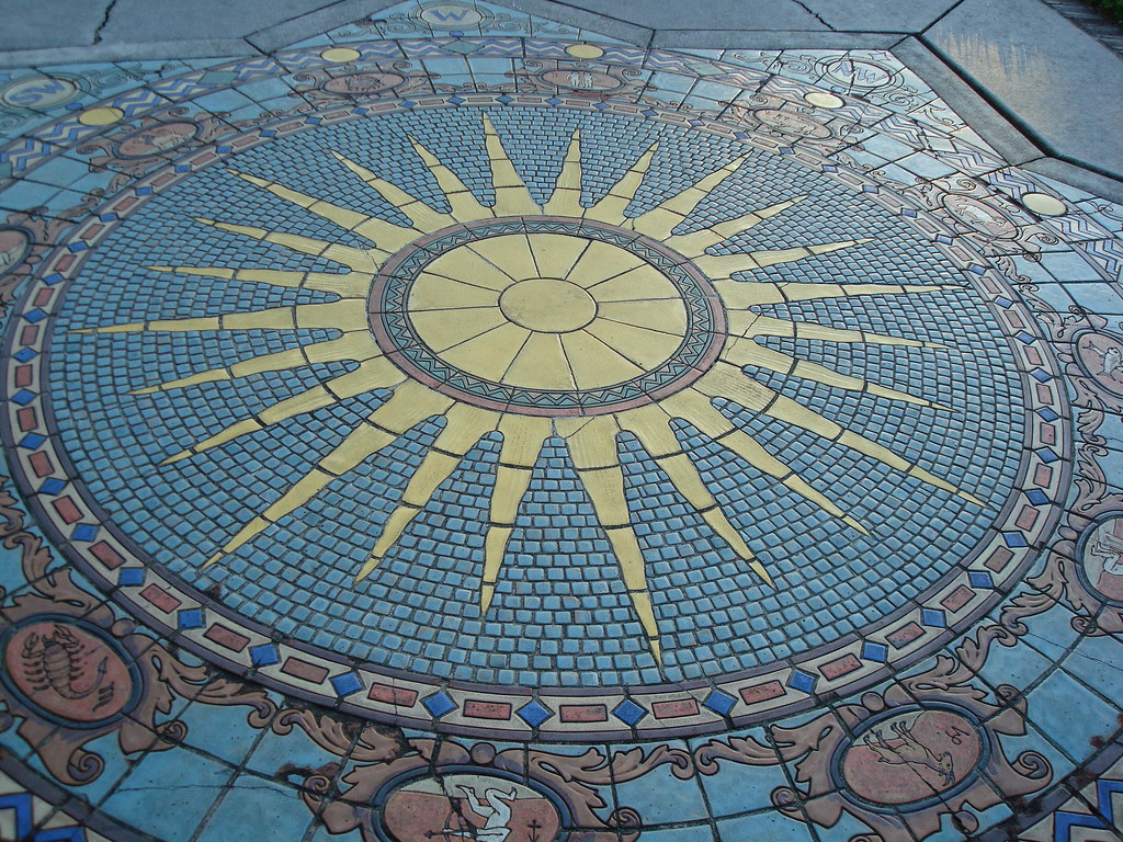 Astrological Chart: Astrology Tile Mosaic Ringling7s Mansion (Courtyard) | Flickr,Chart