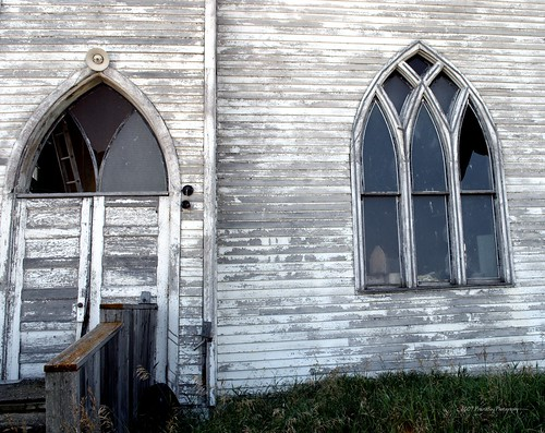 Door & window, abandoned church, Laura, SK. | by Just a Prairie Boy