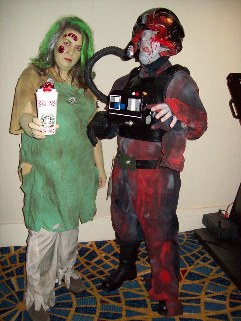 150 starbucks barista zombie tie pilot zombie by dragoncon 2006 2009