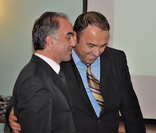 kmfa permanent secretary fitim gllareva, left, and usaid k
