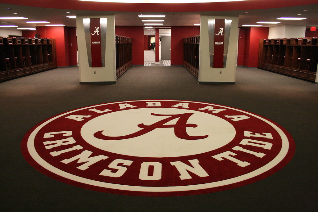 University Of Alabama Locker Room I Placed This Picture In Flickr